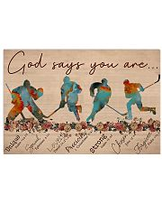 Hockey - God Says You Are - Male 17x11 Poster front