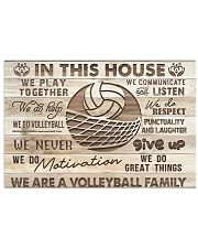 Volleyball - We Are A Volleyball Family 17x11 Poster front