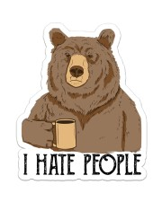 Camping - I Hate People Sticker - Single (Vertical) front