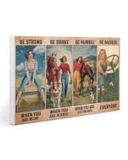 Farm Girl - Be Strong - DKHDTN181120 30x20 Gallery Wrapped Canvas Prints thumbnail
