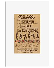 To My Daughter God Says You Are - basketball  Vertical Poster tile