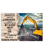 Excavator Operator 17x11 Poster front