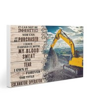 Excavator Operator Gallery Wrapped Canvas Prints tile