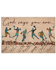 Basketball - God Says You Are - Male 17x11 Poster front