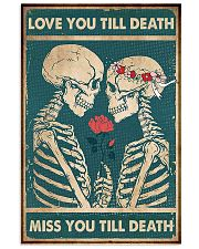 Skull - Love You Till Death 11x17 Poster front