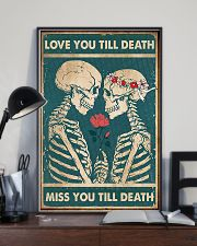 Skull - Love You Till Death 11x17 Poster lifestyle-poster-2