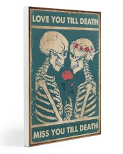 Skull - Love You Till Death 20x30 Gallery Wrapped Canvas Prints thumbnail