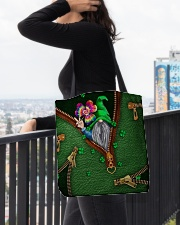 St Patricks Day Gnome Shamrock Tote Bag All-over Tote aos-all-over-tote-lifestyle-front-05