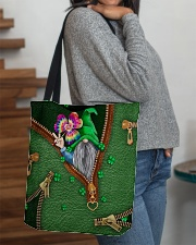 St Patricks Day Gnome Shamrock Tote Bag All-over Tote aos-all-over-tote-lifestyle-front-09