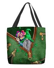 St Patricks Day Gnome Shamrock Tote Bag All-over Tote back