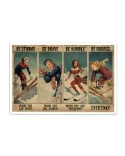 Skiing Poster Sticker tile