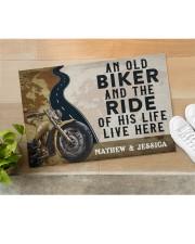 """Personalized An Old Biker Doormat Doormat 22.5"""" x 15""""  aos-doormat-22-5x15-lifestyle-front-11"""