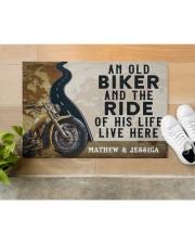 """Personalized An Old Biker Doormat Doormat 22.5"""" x 15""""  aos-doormat-22-5x15-lifestyle-front-12"""