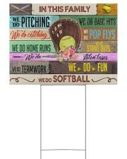Softball - We Do Softball 24x18 Yard Sign back