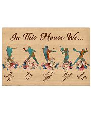 Softball In This House 17x11 Poster front