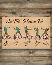 Softball In This House 17x11 Poster poster-landscape-17x11-lifestyle-14