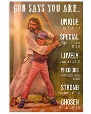 Softball - God Says You Are 11x17 Poster front