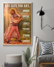 Softball - God Says You Are 11x17 Poster lifestyle-poster-1