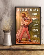 Softball - God Says You Are 11x17 Poster lifestyle-poster-3