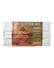 Softball - God Says You Are Cloth face mask thumbnail