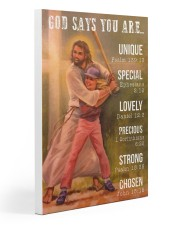 Softball - God Says You Are 20x30 Gallery Wrapped Canvas Prints thumbnail