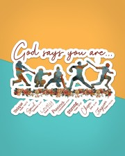 Baseball - God Says You Are Sticker - Single (Horizontal) aos-sticker-single-horizontal-lifestyle-front-02