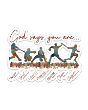 Baseball - God Says You Are Sticker - Single (Horizontal) front