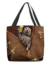 Camping Leather All-over Tote back