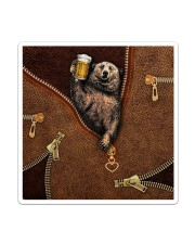 Camping Leather Sticker - Single (Vertical) thumbnail