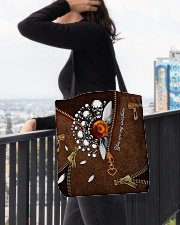 Daisy You Are My Sunshine All-over Tote aos-all-over-tote-lifestyle-front-05