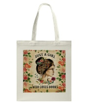 Book - Just A Girl Tote Bag thumbnail