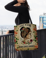 Book - Just A Girl All-over Tote aos-all-over-tote-lifestyle-front-05