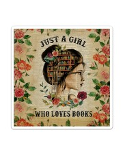 Book - Just A Girl Sticker - Single (Vertical) thumbnail
