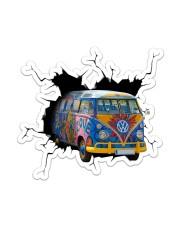 Hippie Car Crack Sticker - Single (Vertical) front