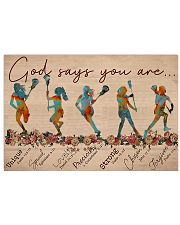Lacrosse - God Says You Are  17x11 Poster front