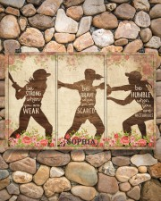Custom Softball Flower Be Strong Poster 17x11 Poster aos-poster-landscape-17x11-lifestyle-15