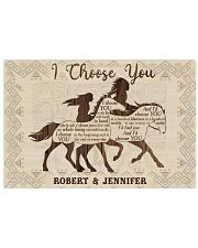 Personalized Native American I Choose You 17x11 Poster front