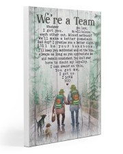 Camping - We're A Team Poster Gallery Wrapped Canvas Prints tile