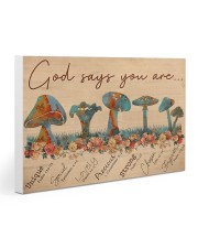 Mushroom God Says You Are Gallery Wrapped Canvas Prints tile
