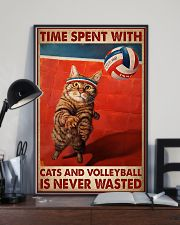 Volleyball And Cat 11x17 Poster lifestyle-poster-2