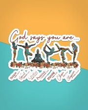 Yoga - God Says You Are Sticker - Single (Horizontal) aos-sticker-single-horizontal-lifestyle-front-02