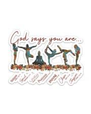 Yoga - God Says You Are Sticker - Single (Horizontal) front