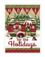 Camping Christmas Flag 2 Sticker - Single (Vertical) thumbnail