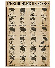 Barber-Types Of Haircuts  11x17 Poster front