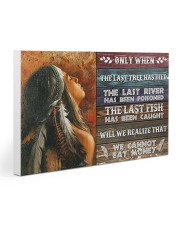 Native - We Cannot Eat Money Gallery Wrapped Canvas Prints tile