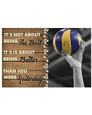 Volleyball - Being The Best 17x11 Poster front