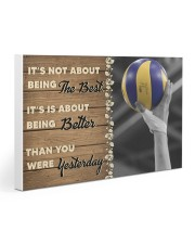 Volleyball - Being The Best Gallery Wrapped Canvas Prints tile