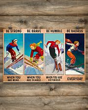 Skiing - Be Strong 17x11 Poster poster-landscape-17x11-lifestyle-14