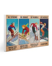 Skiing - Be Strong Gallery Wrapped Canvas Prints tile