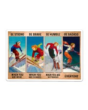 Skiing - Be Strong Sticker tile